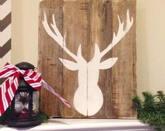 15x18 Inch Rustic Deer Pallet Art