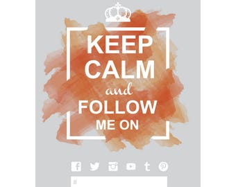 KEEP CALM and follow me on... Social Media Postcards for Postcrossers.