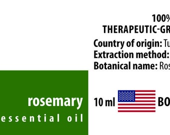 Rosemary 100% Pure Essential Oil from Tunisia 10ml