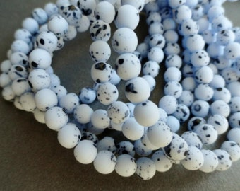 6mm Round Druk Beads - Robin's Egg Blue - Premium Czech Glass Beads