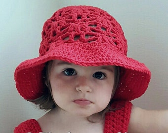 Weeping Willow Sun Hat Infant/Toddler/Child Crochet Pattern - PDF FILE ONLY - Instant Download