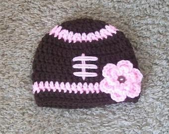 Baby Football Hat, Toddler Football Hat, Newborn Football Photo Prop, Football Beanie Hat, Crochet Football Hat, Newborn Football Hat