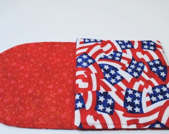 Red Table Runner for Valentine's Day 4th of July Table Runner Red Hearts Table Runner Red White and Blue Table Runner Reversible