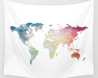 World map tapestry etsy map tapestry rainbow tapestry world map wall hanging globe tapestry world map gumiabroncs Image collections