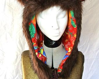 luxury bear hood