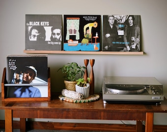 triple record ledge - display 3 records - now spinning