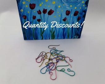 10 Pairs Niobium Colored Ear Wires French Hook Earrings for Sensitive Ears Assorted Color Fish Hook Earwires Niobium Earrings Hypoallergenic
