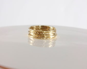 Very Skinny Stackable Stacking Ring, Gold Filled, Rose Gold Filled, Sterling Silver Skinny Rings, Layering Rings, Stacked Rings