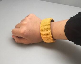 Tangerine handmade beaded bracelet