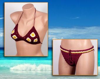 Crochet bikini, Summer trends , LoveKnittings