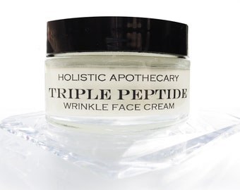 Triple PEPTIDE FACE CREAM  with Hyaluronic Acid, Caviar & Orchid Extracts Anti Aging Cream Wrinkle Cream Organic Facial Moisturizer