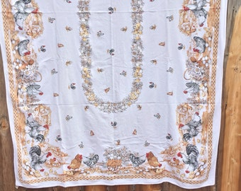 Cute Vintage Chickens Tablecloth