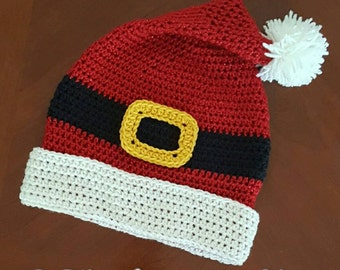 Santa Hat Crochet Pattern *PDF DOWNLOAD ONLY* Instant Download