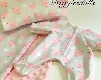 "Reggiesdolls Waldorf doll Jammies pattern  PDF Fits 10"" dolls and Teddy Bears"