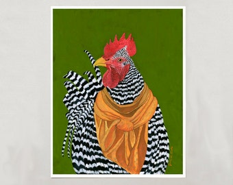 Art Print - Rooster - Signed by Artist - 3 Sizes - S/M/L