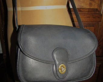 """Coach ~ Prairie Bag ~ Blue ~ Glove Tanned ~ Leather ~ Mint Condition ~ Recycled ~ Vintage ~ Medium Size ~ 10"""" X 7"""" X 3"""""""