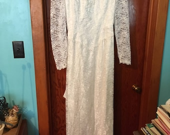 80's vintage wedding dress