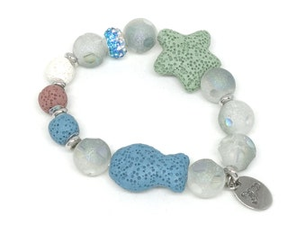 Mipenna Ocean Romance Lava stone with glass beads Bracelet