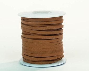 Tan Deerskin Lacing - (1) 50 foot spool, 1/8th inch lace (297-18x50TA)