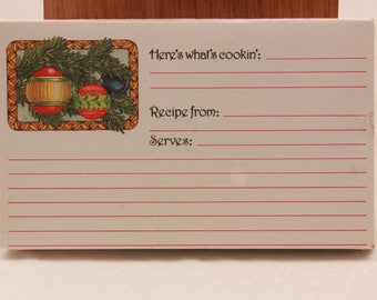 "NEW!!!! Vintage ""Ornaments""  2 Packages of 60 Recipe Cards. Sealed"