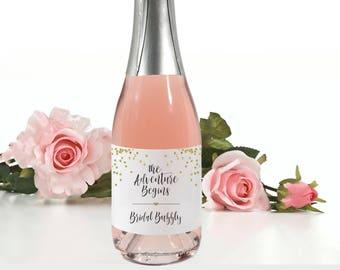 Mini Champagne Wedding Favor Labels // Bridal Shower Favors //