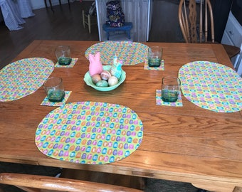Easter placemats and coasters - 4 each