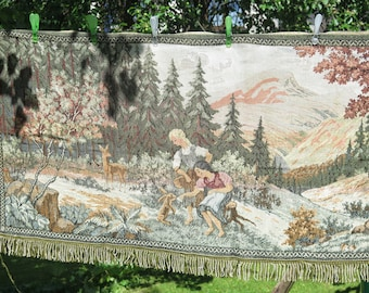 Vintage Tapestry Wall Decor Landscape Woodland Cottage Old Wall Hanging Gobelin Home Decor Romantic Decor #3-31