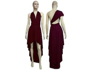 Convertible Dress Bridesmaid Wine High Long Twist Wrap Infinity Dress XS S M L XL 0XL 1XL 2XL 3XL 4XL 5XL