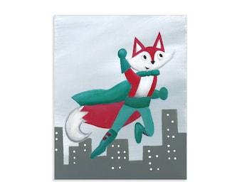 Superhero Fox - Woodland Nature Animal Hero