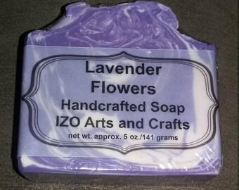 Lavender Flowers Cold Process Goat Milk Soap