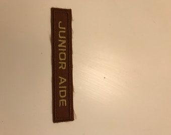 Junior Aid Girl Scout Uniform Patch