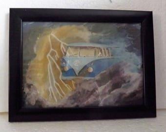 Acrylic Painting Original Art Framed Print