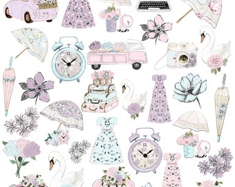 Over 30 Spring Pastel Icons that Match our March kit!