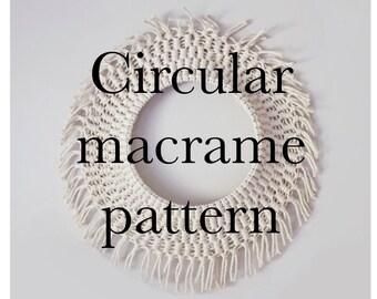 Circular macrame pattern