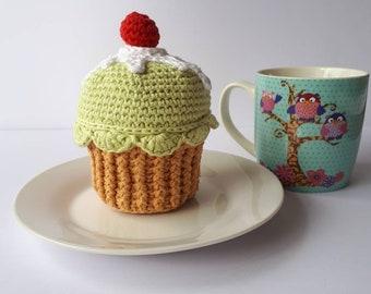 Large Crochet Cupcake