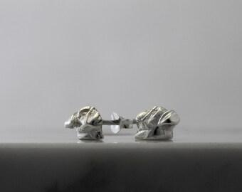 Vakkancs Pug earrings (solid stering silver)