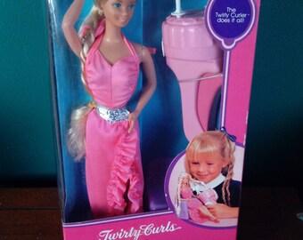 Mattel Twirly Curls Barbie Doll Vintage 1980's Doll