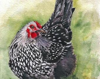Aceo Gwennie the little hen print