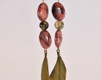 Agate and Jasper earrings