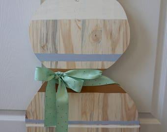 Custom Easter Bunny Wood Decor