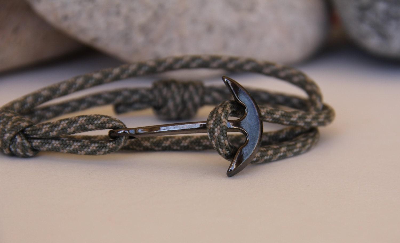 mens anchor bracelet navy on paracord. Black Bedroom Furniture Sets. Home Design Ideas