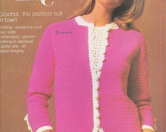 ON SALE Golden Hands Encyclopaedia of Knitting Dressmaking and Needlecraft Guide Part 19 1970s