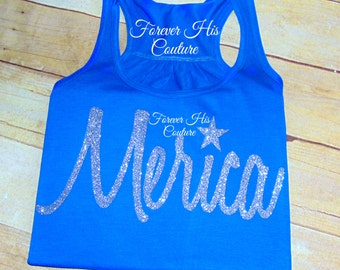 Merica Tank top Merica shirt Fourth of July America Shirt Merica Blouse America Clothing Merica Clothing Merica tank FREE SHIPPING