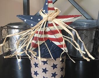 4th of July Mason Jar Decoration