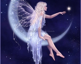 Blue Moon Fairy Art Print - Birth of a Star