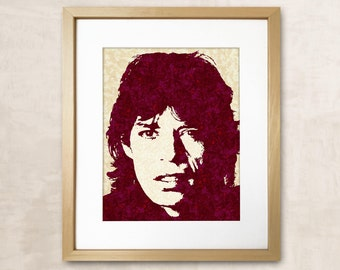 Mick Jagger Rolling Stones Rolling Stones Print Mick Jagger Art Rolling Stones Art Mick Jagger Print Music Print Music Poster Rock Music Art