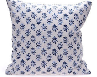 SALE -Blue Block Print Cushion