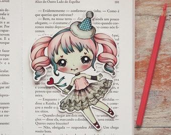 Petite - Romantic Carnival - bookmark - made to order