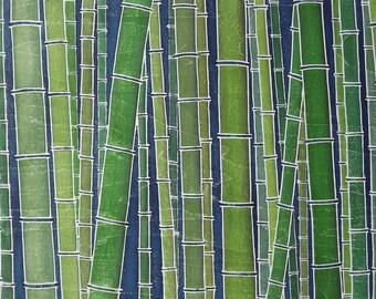 Bamboo Forest II woodblock print