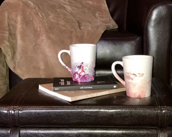 Handmade Marbled Mugs